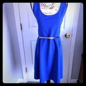 Beautiful royal blue dress with belt